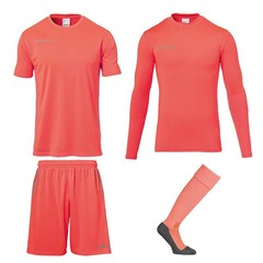UHLSPORT SCORE GOALKEEPER SET FLUO RED