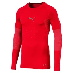 PUMA FINAL EVOKNIT BL THERMO TEE LS PUMA RED