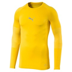 PUMA FINAL EVOKNIT BL THERMO TEE LS CYBER YELLOW