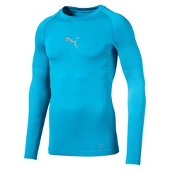 PUMA FINAL EVOKNIT BL THERMO TEE LS AQUARIUS