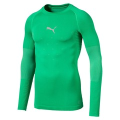 PUMA FINAL EVOKNIT BL THERMO TEE LS BRIGHT GREEN