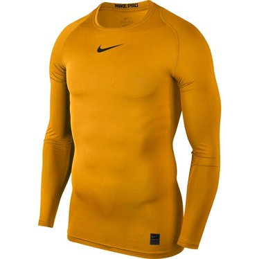 NIKE PRO LS TOP UNIVERSITY GOLD