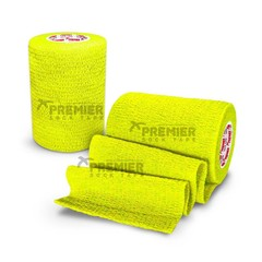 GOALKEEPERS WRIST & FINGER PROTECTION TAPE 7.5CM NEON YELLOW