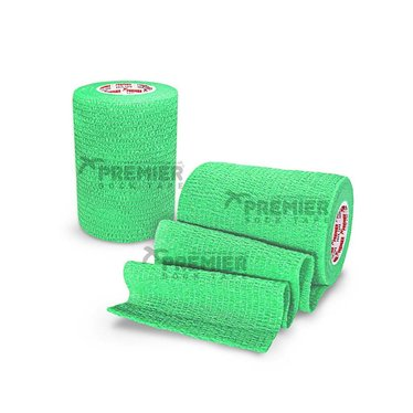 GOALKEEPERS WRIST & FINGER PROTECTION TAPE 7.5CM LIME GREEN