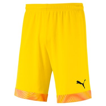 PUMA CUP SHORTS CYBER YELLOW-PUMA BLACK