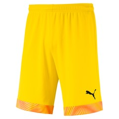 PUMA CUP SHORTS CYBER YELLOW-PUMA BLACK JUNIOR