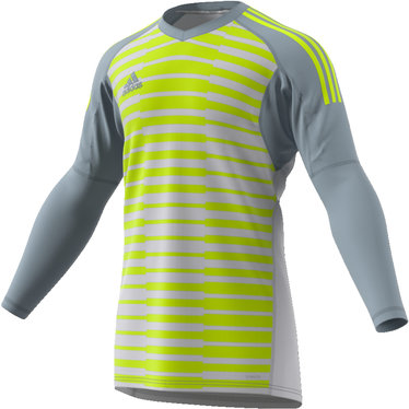 ADIDAS ADIPRO 18 GOALKEEPER JERSEY LIGHT GREY/GREY ONE/SEMI SOLAR YELLOW JUNIOR