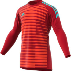 ADIDAS ADIPRO 18 GOALKEEPER JERSEY POWER RED/SEMI SOLAR RED/ENERGY AQUA JUNIOR