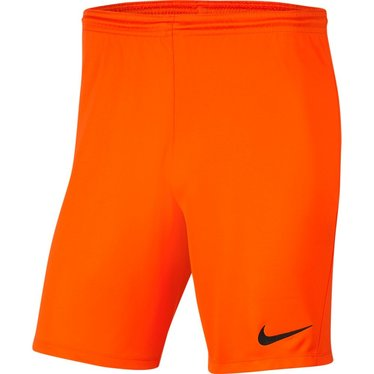 NIKE DRI-FIT PARK III SHORT SAFETY ORANGE JUNIOR