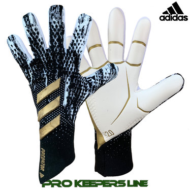 ADIDAS PREDATOR GL PRO CORE BLACK/ CLOUD WHITE/ GOLD METALLIC (NEGATIVE CUT)