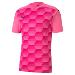 PUMA TEAMFINAL 21 GRAPHIC JERSEY PINK GLIMMER-BEETROOT PURPLE
