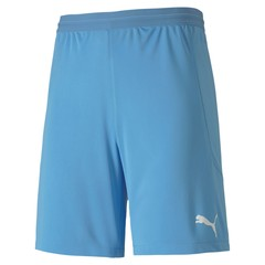 PUMA TEAMFINAL 21 KNIT SHORTS LIGHT BLUE