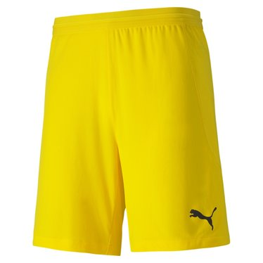 PUMA TEAMFINAL 21 KNIT SHORTS CYBER YELLOW