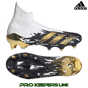 ADIDAS PREDATOR MUTATOR 20.1 + SG CLOUD WHITE / GOLD METALLIC/ CORE BLACK