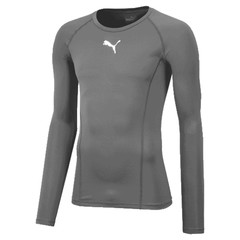 PUMA LIGA BASELAYER TEE LS STEEL GRAY
