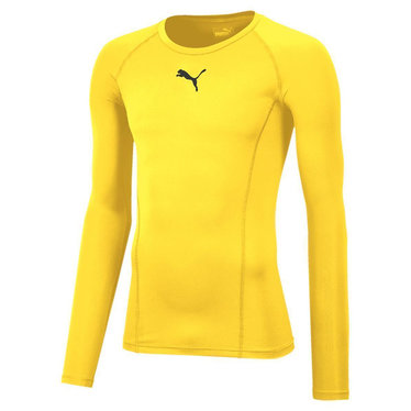 PUMA LIGA BASELAYER TEE LS CYBER YELLOW