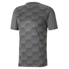 PUMA TEAMFINAL 21 GRAPHIC JERSEY STEEL GRAY-PUMA BLACK JUNIOR
