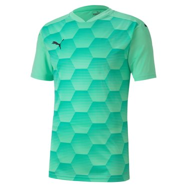 PUMA TEAMFINAL 21 GRAPHIC JERSEY GREEN GLIMMER-AQUA GREEN JUNIOR