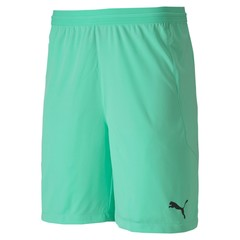 PUMA TEAMFINAL 21 KNIT SHORTS GREEN GLIMMER JUNIOR