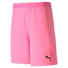 PUMA TEAMFINAL 21 KNIT SHORTS PINK GLIMMER JUNIOR
