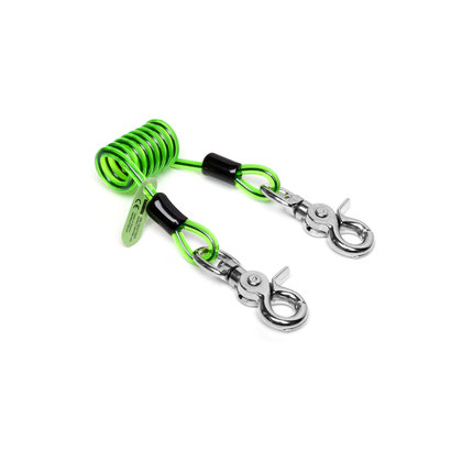 NLG NLG Short Coiled Tool Lanyard Quick Clip