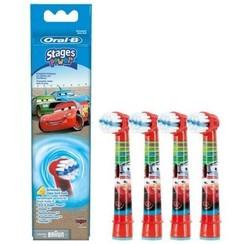 Oral-B Stages Opzetborstels | Cars | 4 stuks