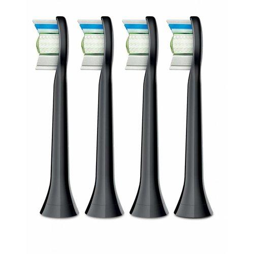 Philips Sonicare Philips Sonicare Optimal White Standard Opzetborstels | 4 stuks | Black | HX6064/11
