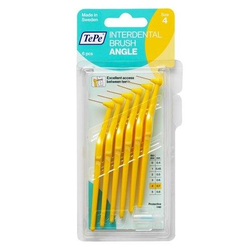 TePe TePe Angle™ Ragers l Geel - Maat 4 | 0,70mm | 6 stuks