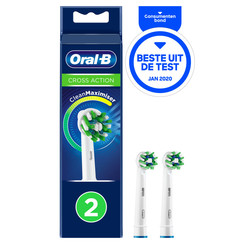 Oral-B Crossaction Opzetborstels | 2 stuks