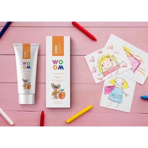WOOM WOOM | Kids Tandpasta 3-8 jaar | 50ml Peach