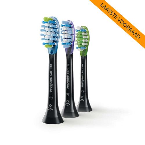 Philips Sonicare Philips Sonicare Mix-Pack Premium Opzetborstels | 3 stuks - Zwart | HX9073/33