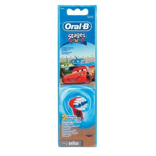 Oral-B Oral-B Stages Opzetborstels   Cars   2 stuks
