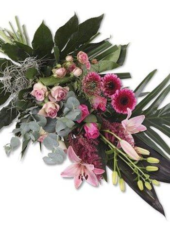 Abelia Meesterbinders Rouwboeket Pink Elegance