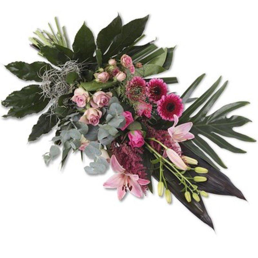 Pink Elegance rouwboeket-1