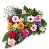 thumb-Kleurrijk gebonden rouwboeket-4