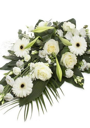Abelia Meesterbinders Divers wit rouwbloemstuk