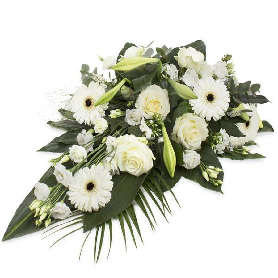 Divers wit rouwbloemstuk-1