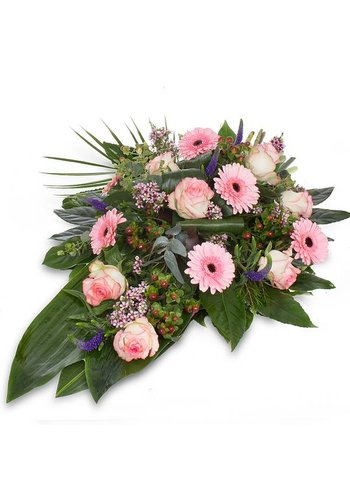 Abelia Meesterbinders Divers roze rouwboeket