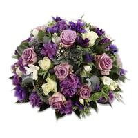 Rouwbiedermeier blauw en paars