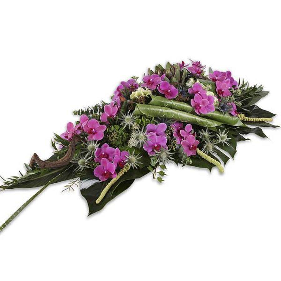 Paars groen uitvaartbloemen-1