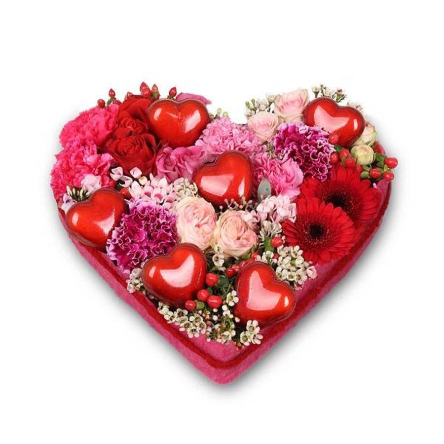 Rood hart vorm rouwstuk-1
