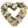 Roze hart vorm rouwboeket