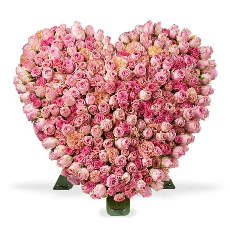 Roze rozen standaard hart-1