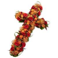 Kruis vorm met bonte kleuren