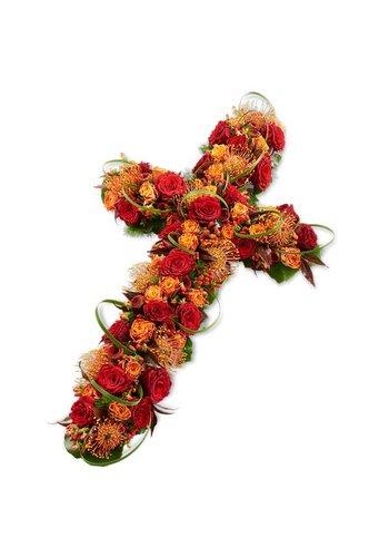 Abelia Meesterbinders Kruis vorm met bonte kleuren