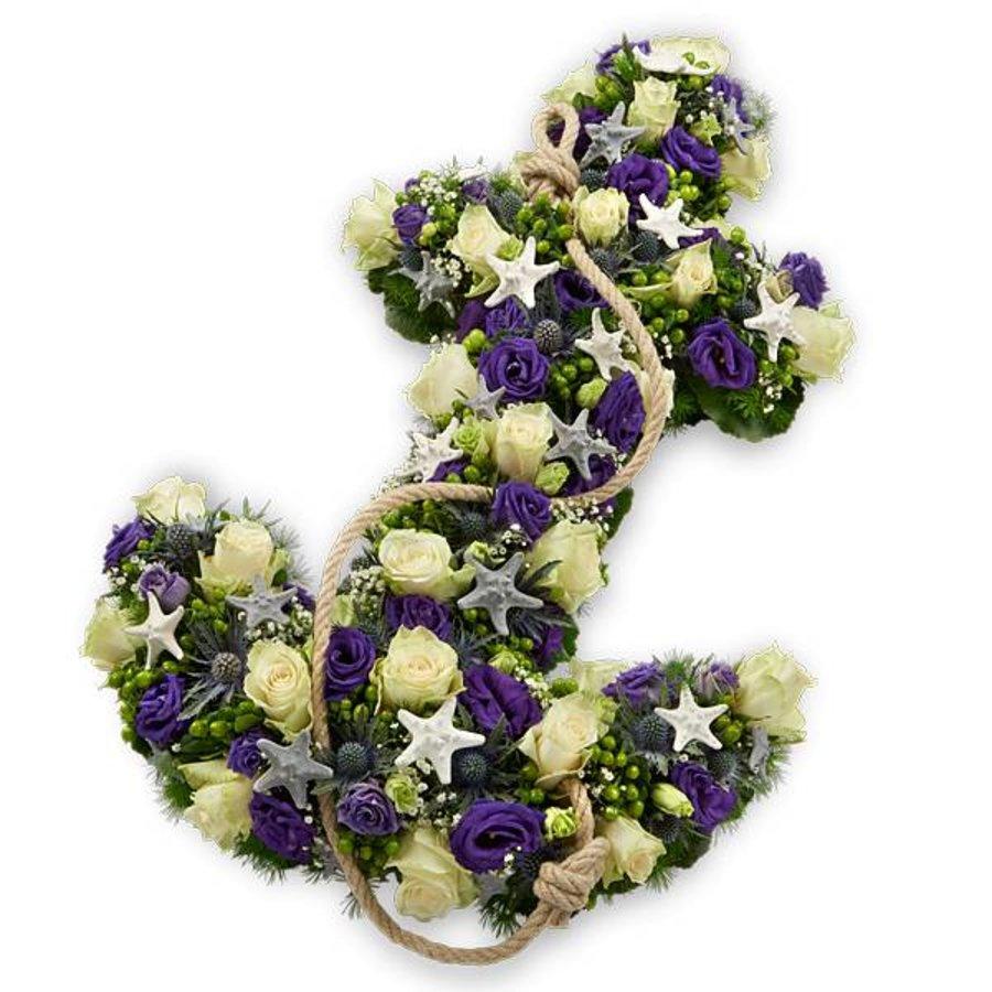 Wit paars anker rouwstuk-1