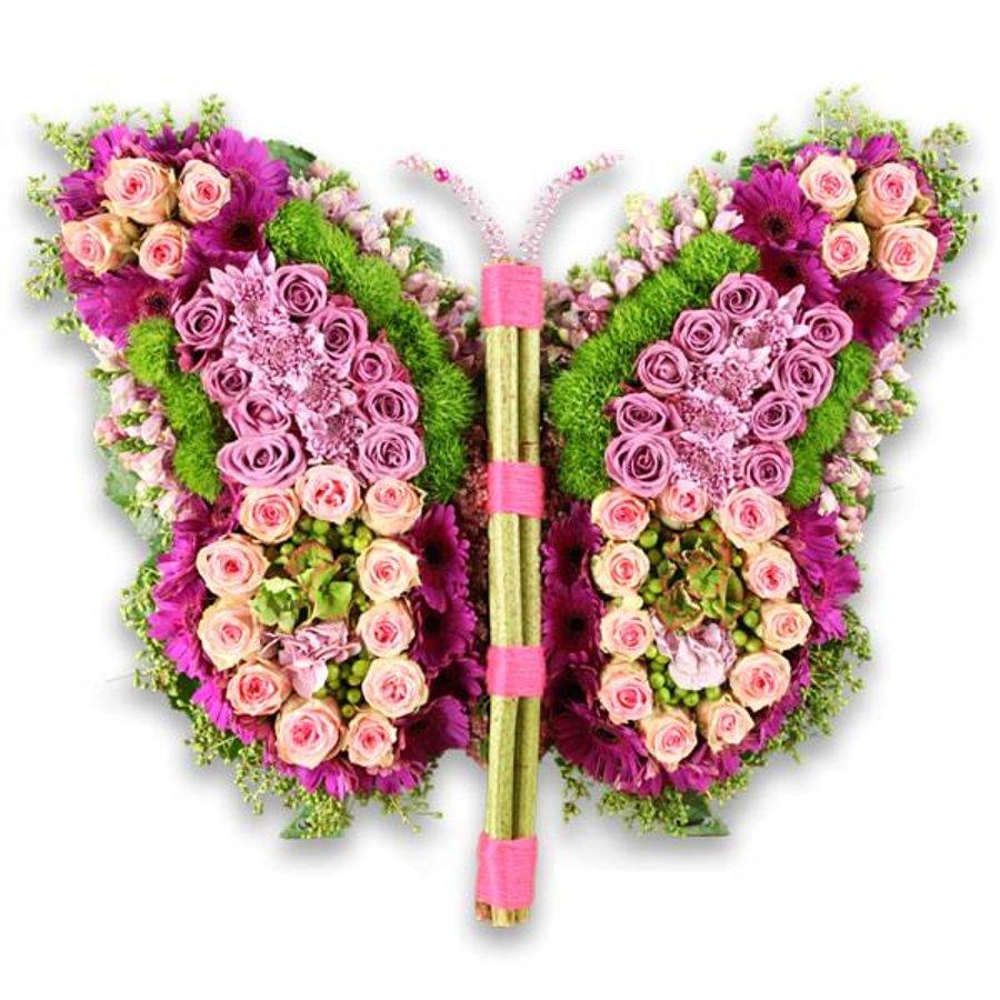 Roze kleurige vlinder-1