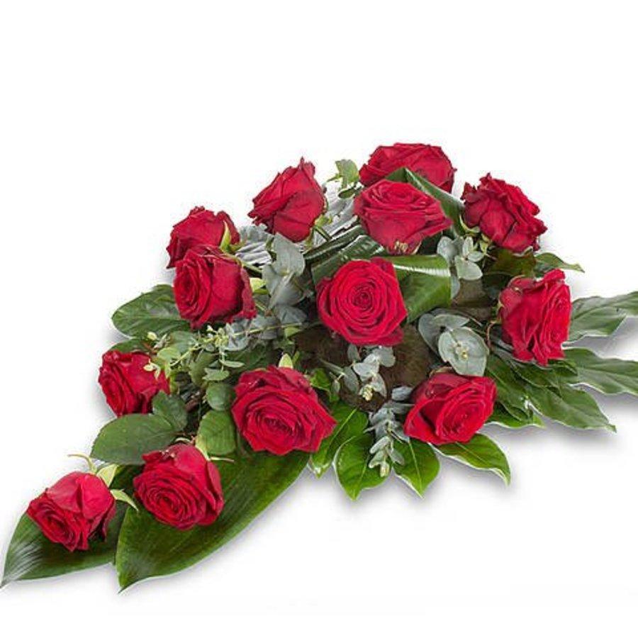 Rode rozen rouwboeket-2