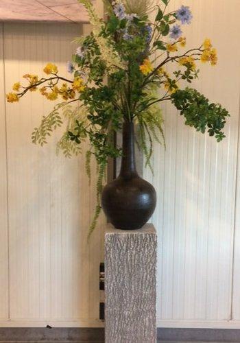 Abelia verhuur zijdebloemen Blauw, geel, groen zijden boeket