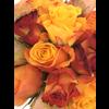 Abelia Meesterbinders Rozen boeket oranje rood